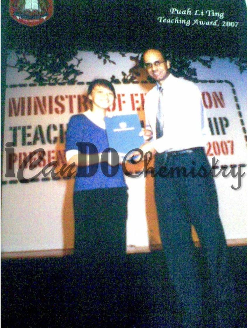 ICanDoChemistry, Ms Tara Puah, Recipient of Teaching Award 2007