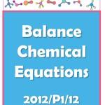 Balance chemical equation cover image